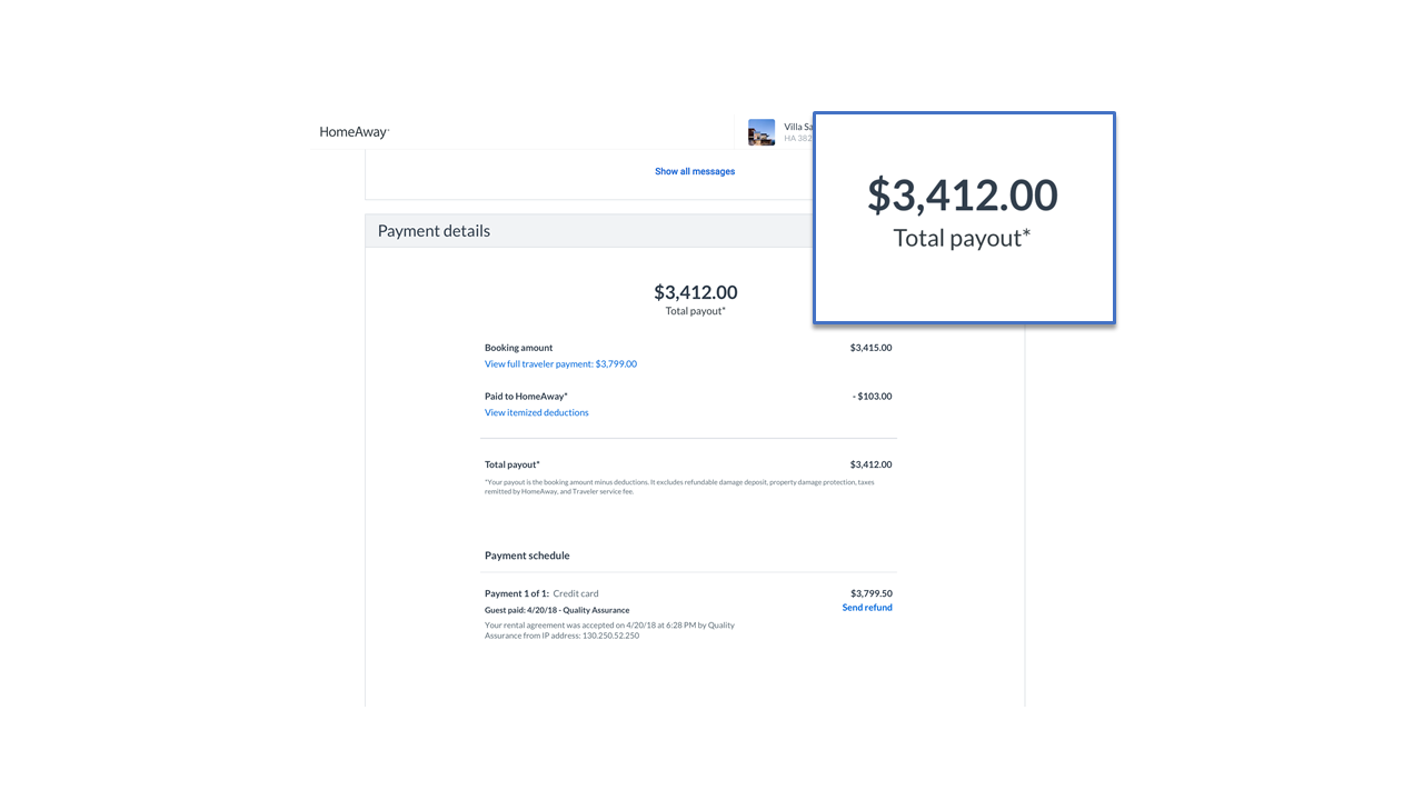 Payments details redesign